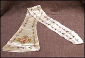 Rare French Embroidery Silk for Stole 1910