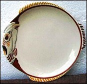 Fish Shaped Plate HB Quimper