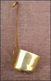 Antique French Country Normandy Brass Ladle 1860