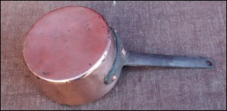 Copper Pan Tin Lined French 1880