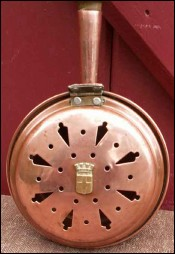 French Country Copper Bed Warmer for Doll House 1930