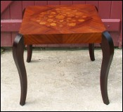 Table basse Bout de canape marqueterie 1940-50