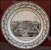 Assiette Choisy Vue bassins canal Ourq Chapuy 1810