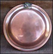 French Country Eggs Fry Pan Tin lined Copper 19th Century
