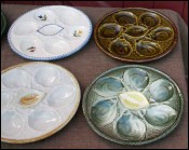 Set of 6 Oyster Plates St Clement France 1960