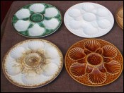Set of 6 Oyster Plates Longchamp France 1960