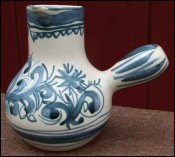 Blue and White Milk pot Quimper Jos Le Corre Keraluc