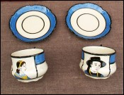 Wedding Tea Chocolate Cups Saucers HB Quimper Kervela