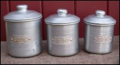 Aluminum Canister Storage Set of 3 Cafe Chicorée The France 1930