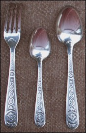 Set Kid Flatware Silverplate Villeroy Pattern Christofle