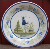 Little Breton HB Quimper Decorative Plate 1960