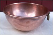 Hammered Copper Chef Mixing Bowl 1950