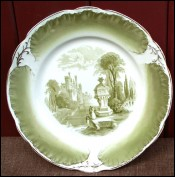 Romantic Semi Royal Plate Porcelain Wedgwood 1890