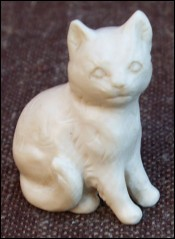 Cat Carved Figure Ivory