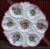 Flowered Scalloped Oyster PLate Faience Renoleau Angouleme