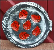 Fish Shaped Oyster Plate Pornic 70's Faience