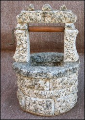 Granite Stone Miniature Garden Well for Doll House