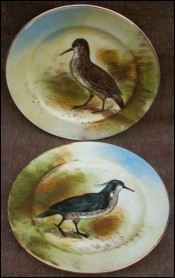 Lapwing Decorative Plates Th Haviland Limoges France