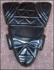 Masque obsidienne céleste amérindien Aztèque Mexique