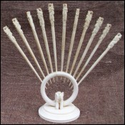Set 11 Elephant Cocktail Picks Stand Ivory