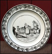 Assiette Cris de Paris fa�ence Choisy 1810