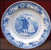 Assiettes fa�ence Gien (1817?) d�but de Hall
