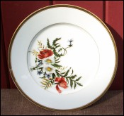 Poppy & Daisy French Porcelain Decorative Plate 1950