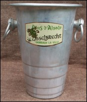 Alsace White Wine Ice Bucket Cooler Gisselbrecht