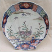 Japanese Shell Shaped Arita Porcelain Oster Plate Meiji