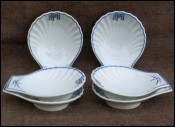 Limoges Set 6 Individual Shell Oyster Plates Böblingen Airport