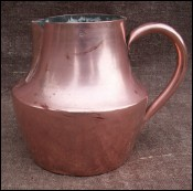French Country Coffe Pot Copper Tin Lined Marabout