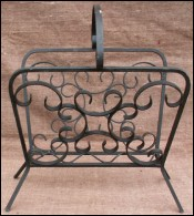French Wrought Iron Magazine Rack Brittany 1960