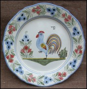 Rooster Decorative Plate HB Quimper