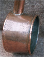 French Copper Unusual Tined Ladle Water