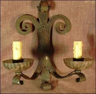 Wrought Iron Sconce Wall Light