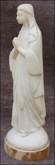African Virgin Mary Carved Ivory