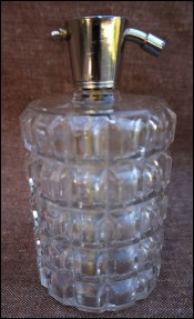 French Crystal Perfume Atomizer Baccarat 1900