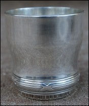 Silver Plated Ribbons Shooter Shot Goblet Tumbler