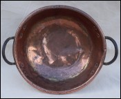 Copper Mixing Bowl Preseving Candy Kettle Pan Wrought 18th C