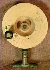 Large Wood and Brass Reel  Revers