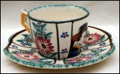HB Quimper Tea Coffee Cup and Saucer Little Breton Jos Kervella
