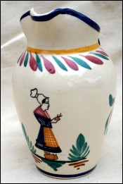 HB Quimper Little Bretonne Pitcher with Spout 1940