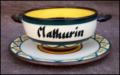 Bowl & Saucer Mathurin Celtic Decor St Jean de Bretagne