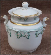 Gilt Paris Porcelain Sugar Bowl 1850 Louis Philippe Era