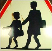 OLD French Children Crossing Sign 70's