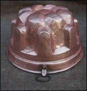 Tinned Hammered Copper Mold Jelly Chef Cookware 1900