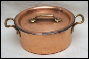 Tinned Hammered Copper Stew Pot Rondeau Lid Dehillerin