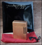 Paris S.T. Dupont Gold Plated Lighter Ligne 1 Gatsby 1960