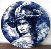 Young Lady Rembrandt Wall Charger Boch 1900