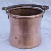 Hammered Copper Dovetailed Caldron Kettle Ice Bucket